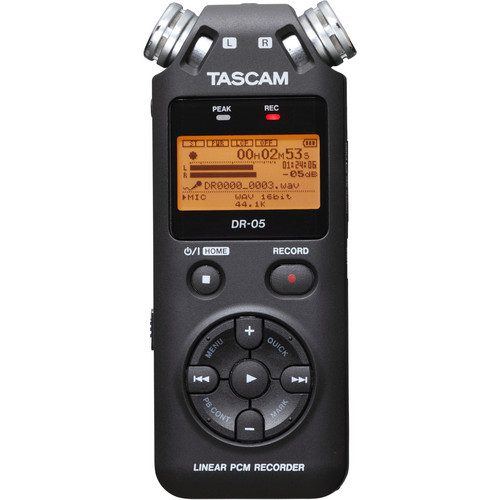 Grabador Portátil con Micrófono Fijos