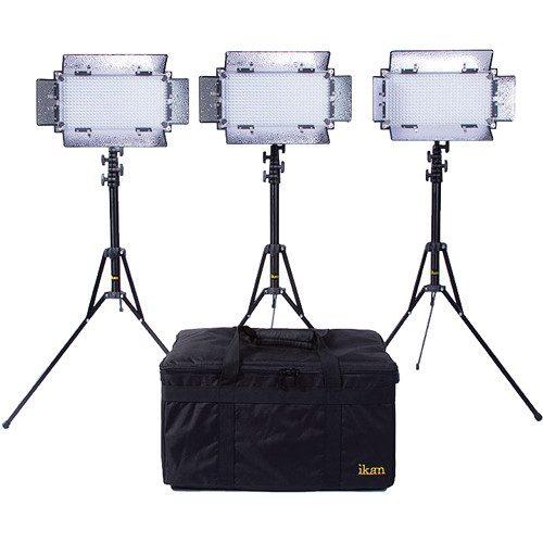 KIT IB508-v2 con 3 luces de estudio LED bicolores IB508-